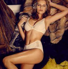 Solveig Mork Hansen lingerie topless nude Bryce Thompson photo shoot 7x HQ