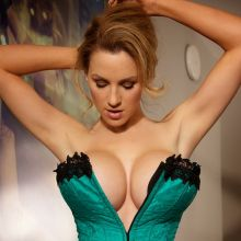 Jordan Carver big boobs in tight corset Big Night photoshoot 30x HQ
