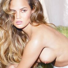 Chrissy Teigen topless photo shoot for W magazine 2015 August UHQ