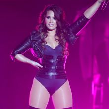 Demi Lovato spread legs on stage at the Grandstand at the Minnesota State Fair 11x UHQ photos