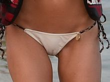 Kimberley Garner wearing sexy bikini on the beach in St Tropez Cameltoe 48x HQ