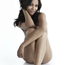 Zoe Saldana nude Women's Health magazine 2014 September 2x MQ