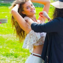 Nina Agdal topless Avon Behind the Scenes 7x UHQ