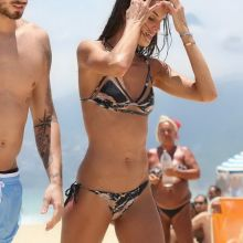 Izabel Goulart wearing wet see through bikini on the beach in Rio De Janeiro 40x HQ