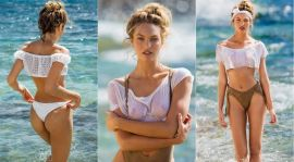 Candice Swanepoel topless Maxim Magazine 2015 March outtakes 9x HQ