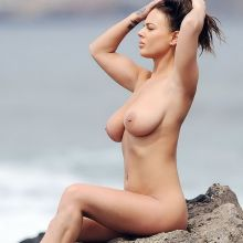 Chantelle Connelly from Geordie Shore Girl nude topless photo shoot on the beach in Tenerife 28x UHQ photos