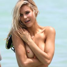 Joy Corrigan topless on the beach photo shoot for Sports Illustrated Swimsuit 2016 50x UHQ photos