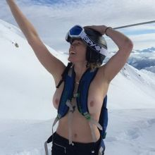Chelsea Handler topless on a mountain 2x MixQ