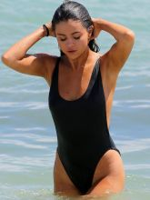 Selena Gomez wearing sexy swimsuit at a beach in Miami 35x UHQ