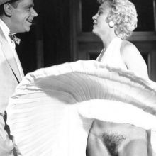 Marilyn Monroe upskirt without panties on The Seven Year Itch deleted scene
