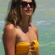 Anastasia Ashley cleavage in sexy bikini candids on the beach in Miami 10x HQ photos