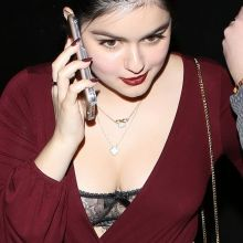 Ariel Winter cleavage show boobs in black lingerie at The Nice Guy Restaurant in West Hollywood 12x HQ photos