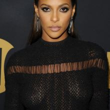 Megalyn Echikunwoke braless in see through dress on Showtime Emmy Eve Party in Los Angeles 9x UHQ photos