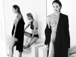 Candice Swanepoel & Martha Hunt topless and naked for 25 magazine 6x HQ