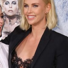 Charlize Theron nip slip on The Huntsman and The Ice Queen premiere 6x HQ photos