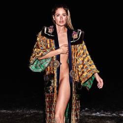 Doutzen Kroes braless see through topless for Vogue magazine June 2017 21x HQ photos