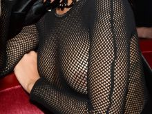 Rihanna see through top at Balmain fashion show after party in Paris 13x UHQ