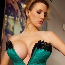 Jordan Carver big boobs in tight corset Big Night photoshoot 30x HQ
