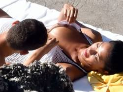 Nicole Scherzinger topless nip slip lets her BF touch her boobs with nips out 46x MixQ photos