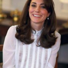 Kate Middleton in see through blouse without bra at Launch of Huffington Post UK's Young Minds Matter Iniative at Kensington Palace UHQ photo
