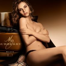 Lily James topless My Burberry Black 2016 10x UHQ photos