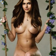 Alexandra Daddario nude FHM magazine cover photo shoot UHQ
