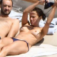 Sophie Marceau topless big hard nipple on the yacht in Capri 38x HQ photos