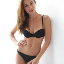 Lana Zakocela sexy black lingerie photoshoot 9x HQ