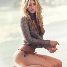 Gigi Hadid topless Guess 2015 Spring 16x HQ