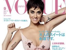 Katy Perry cleavage on Vogue Japan 2015 September cover 2x HQ