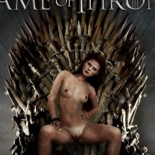 Rose Leslie naked Game of Thrones poster spread legs HQ
