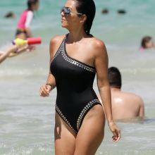 Kourtney Kardashian sexy swimsuit candids on the beach in Miami 68x UHQ photos