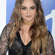 Joanna JoJo Levesque braless in see through top on 2016 MTV Video Music Awards in NY 16x UHQ photos