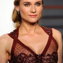 Diane Kruger nipple peek in see through dress on 2016 Vanity Fair Oscar Party 44x UHQ photos