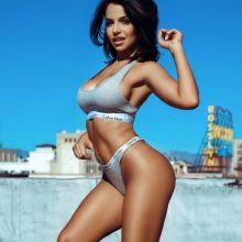 Vida Guerra posing in her Calvin Klein underwear Twitter 2x UHQ photos