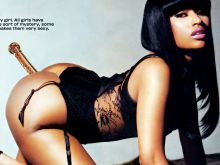 Nicki Minaj naked doggystyle anal dildo advertising poster UHQ