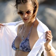 Alessandra Ambrosio sexy bikini candids on the beach in Ibiza 40x HQ photos