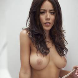 Chloe Bennet topless photo shoot HQ
