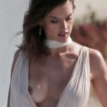 Alessandra Ambrosio nip slip upskirt photo shoot on Malibu beach 24x HQ photos