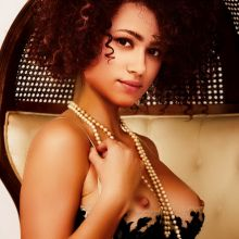 Nathalie Emmanuel nude Playboy magazine celebrity cover naked photo shoot UHQ