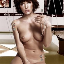 Milla Jovovich nude Resident Evil poster UHQ