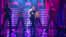 Hailee Steinfeld - Late Night with Seth Meyers in New York City sexy bodysuit on stage