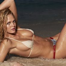 Erin Heatherton nude topless bodypaint see through Sports Illustrated sexy Swimsuit 2015 photo shoot 31x HQ