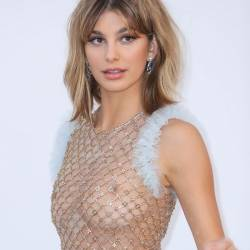 Camila Morrone braless in see through dress at amfAR's 24th Cinema Against AIDS Gala at the 70th Cannes Film Festival 21x HQ photos