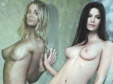 Kaley Cuoco and Kate Beckinsale nude beauty photo shoot UHQ