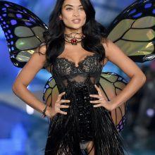 Shanina Shaik sexy Victoria's Secret lingerie 2015 Fashion Show 10x HQ