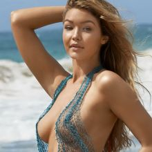 Gigi Hadid nude topless bodypaint see through Sports Illustrated sexy Swimsuit 2015 photo shoot 38x HQ