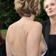 Jennifer Lawrence flashin side boob Christian Dior fashion show in Paris 12x HQ