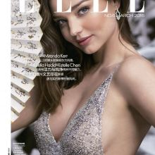 Miranda Kerr see through dress without bra for Elle magazine 2016 March 5x HQ photos