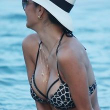 Nicole Scherzinger nip slip show big boobs in sexy bikini on the beach in Mykonos 206x UHQ ADDS